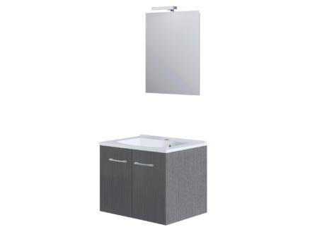 Allibert Fast Pack meuble salle de bains 60cm 2 portes chêne gris