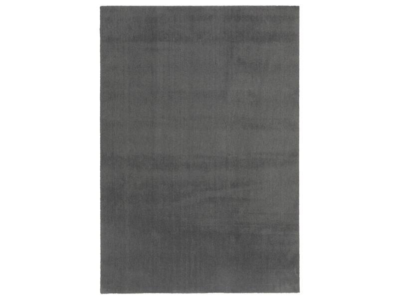 Feel vloerkleed 160x230 cm donkergrijs