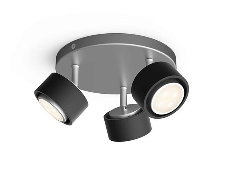 Philips Ferano LED plafondspot 3x4,3 W zwart