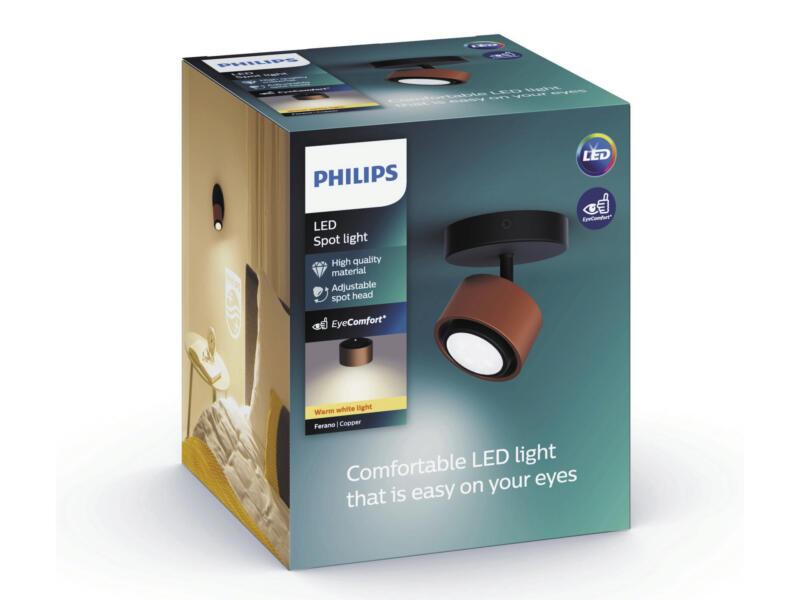 Philips Ferano LED wandspot 4,3W koper