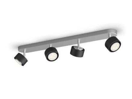 Philips Ferano barre de spots LED 4x4,3 W noir