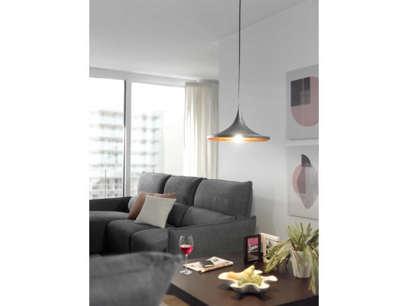 MEO Ferrara hanglamp E27 60W zwart