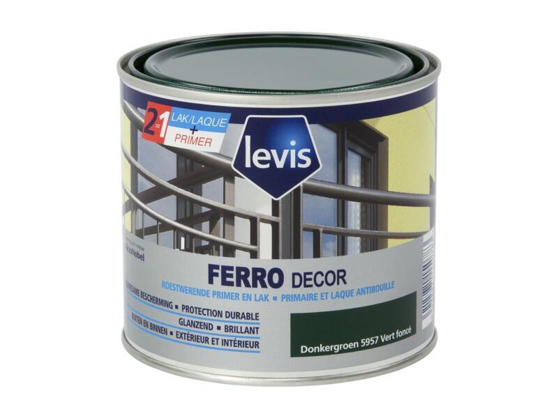 Levis Ferro decor lak hoogglans 0,5l donkergroen