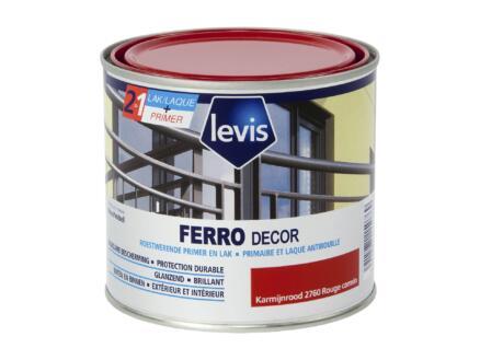 Levis Ferro decor lak hoogglans 0,5l karmijnrood