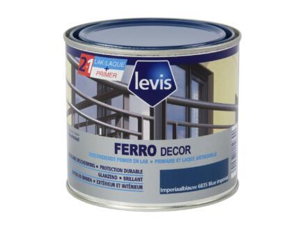 Levis Ferro decor laque brillant 0,5l bleu impérial