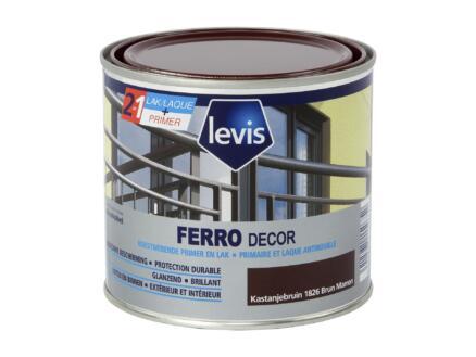 Levis Ferro decor laque brillant 0,5l brun marron