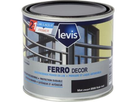 Levis Ferro decor laque brillant 0,5l noir mat