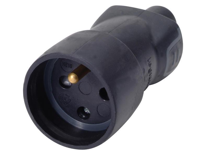 Legrand Fiche IP44 16A caoutchouc noir
