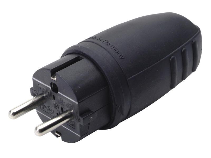 Profile Fiche IP44 16A caoutchouc noir