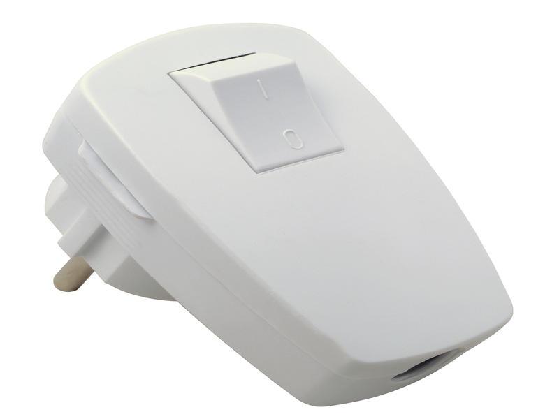 Profile Fiche avec interrupteur 16A blanc