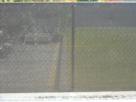 Filet brise-vue 95% occultant 2m par mètre courant noir