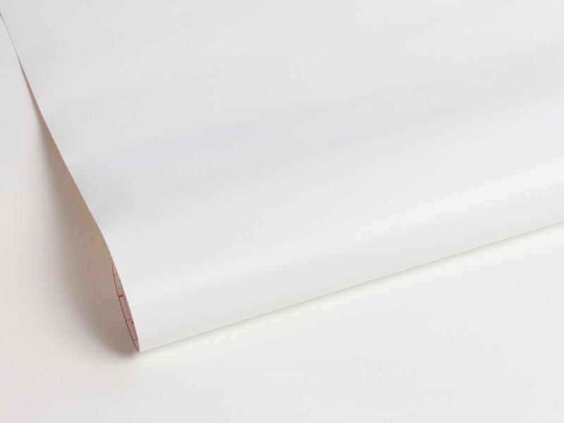 Film adhésif décoratif 45cm x 2m blanc mat