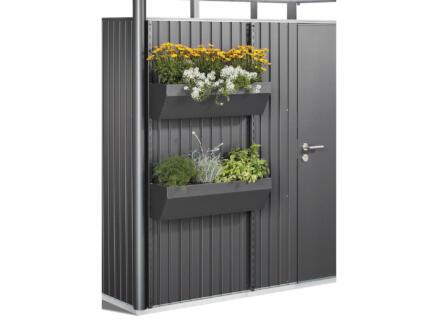 Biohort FloraBoard bac à fleurs 198cm acier gris foncé pour AvantGarde/Highline/Panorama