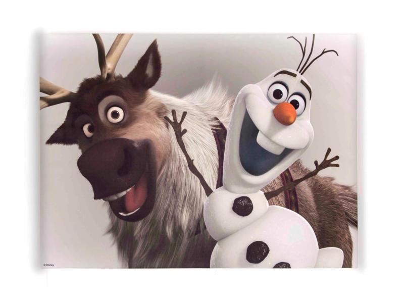 Disney Frozen Olaf & Sven canvasdoek 70x50 cm