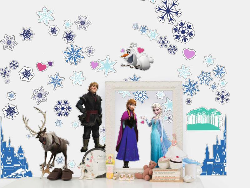 Disney Frozen muurstickers 50 stuks