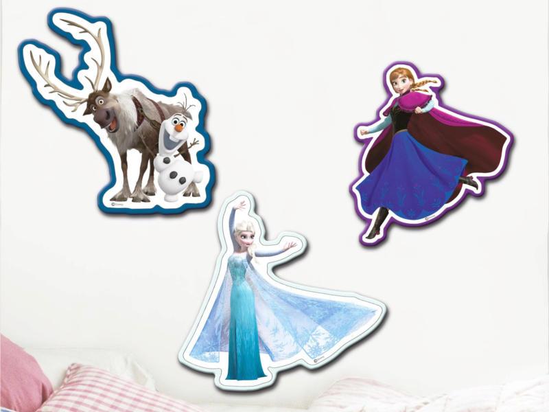 Disney Frozen muurstickers foam blauw 3 stuks
