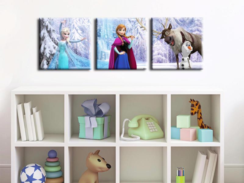 Disney Frozen toile imprimée 30x30 cm 3 pièces
