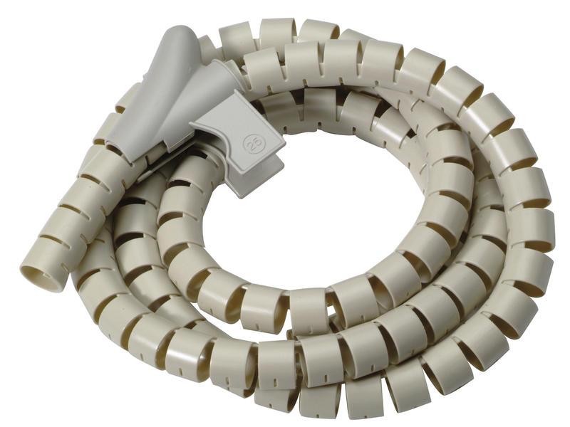 Gaine spirale 15mm 3m argent