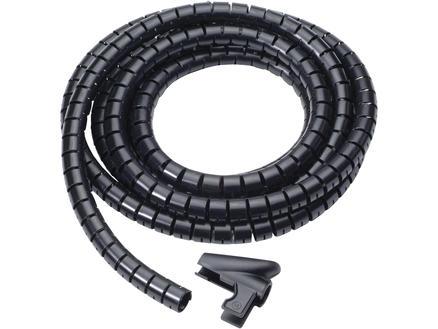 Gaine spirale 25mm 2m noir
