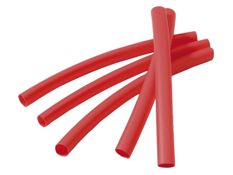 Gaine thermorétractable rouge 6-2mm 5 pièces