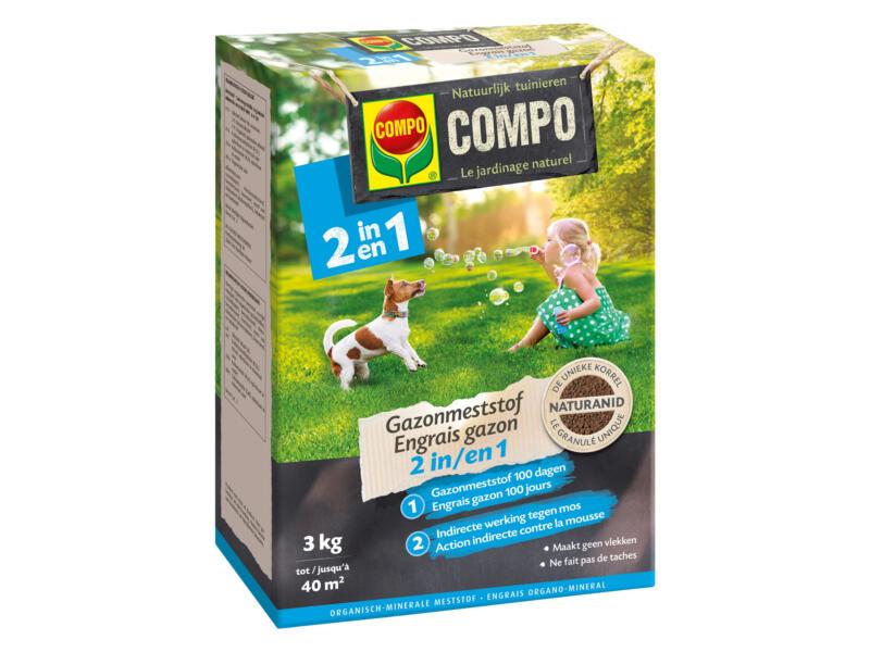 Compo Gazonmeststof 2-in-1 3kg