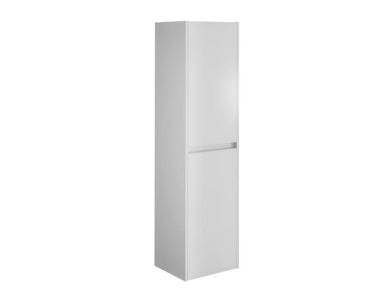 Allibert George meuble colonne 40cm 2 portes blanc brillant