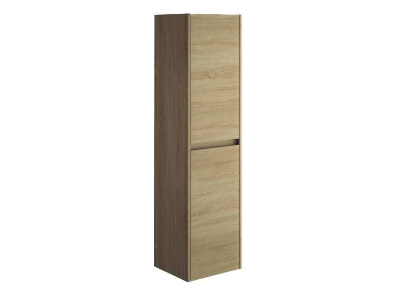 Allibert George meuble colonne 40cm 2 portes chêne