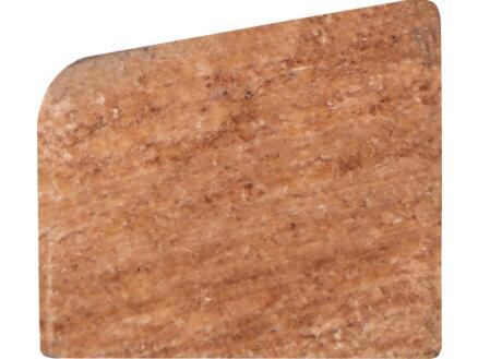 Glaslat 19x16 mm 270cm hardhout rood