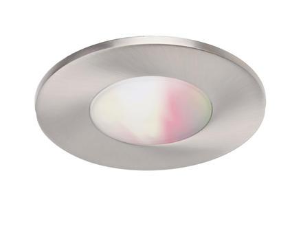 Wiz Glyph Color LED inbouwspot 8W dimbaar nikkel