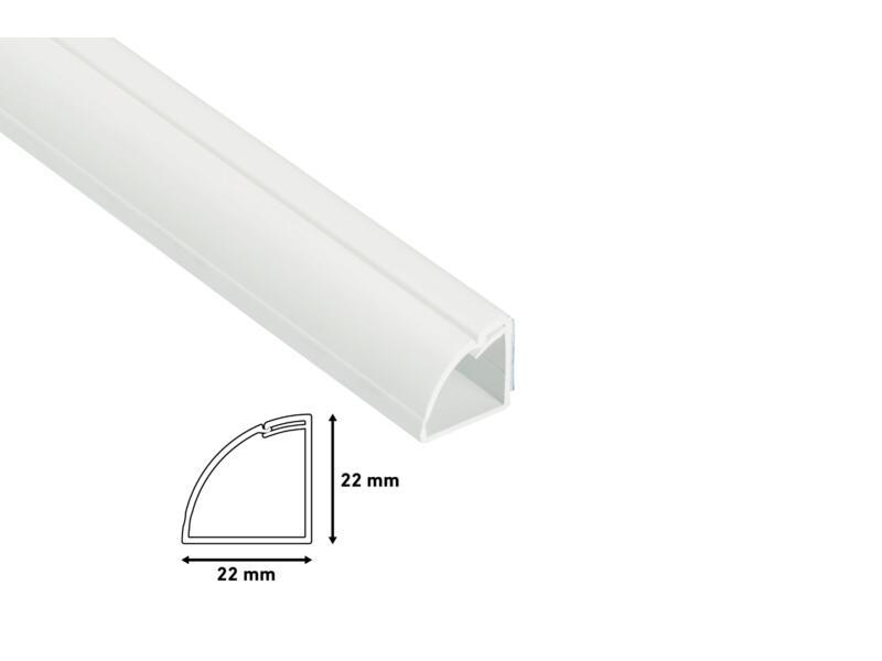 Goulotte de coin 90° 22x22 mm 2m blanc