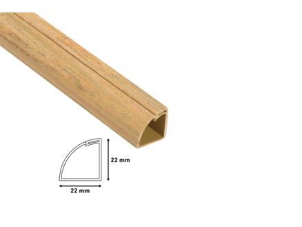 Goulotte de coin 90° 22x22 mm 2m bois