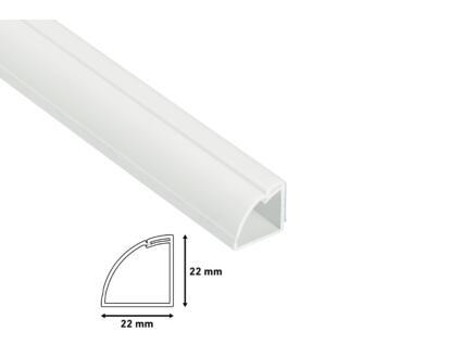 Goulotte demi-cercle 16x8 mm 2m blanc