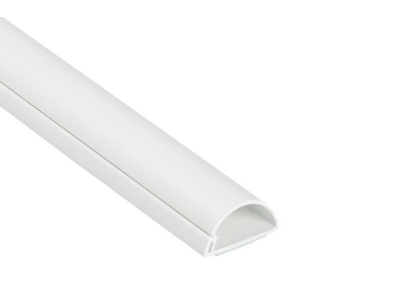 Goulotte demi-cercle 30x15 mm 2m blanc