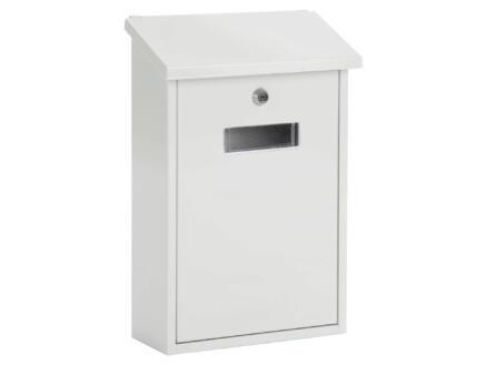 Starcko Granada brievenbus gelakt staal wit