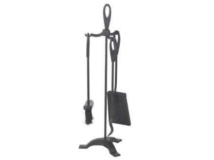 Practo Home Haardset design 4-delig zwart 63,5cm hoog
