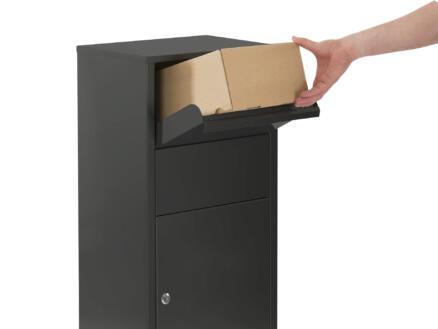 Practo Garden Hannover boîte aux lettres pour paquets acier noir mat