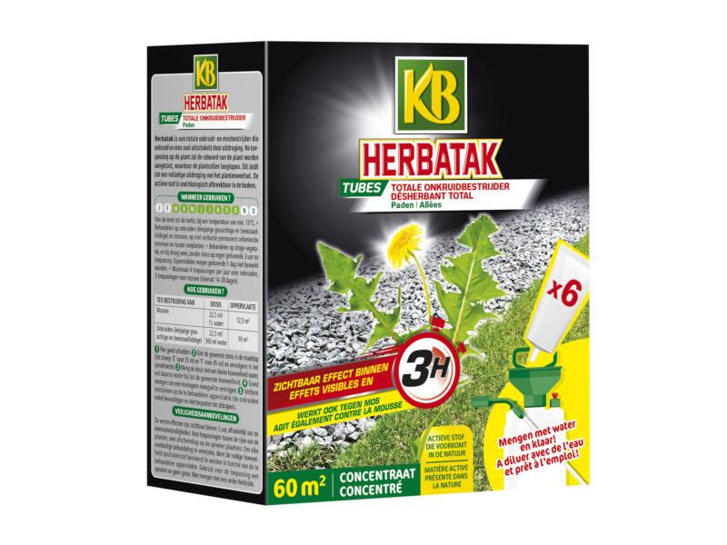 Kb Herbatak totale onkruidverdelger paden 6 tubes