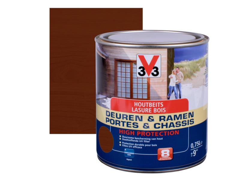 V33 High Protection houtbeits ramen & deuren zijdeglans 0,75l donkere eik