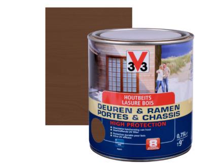 V33 High Protection houtbeits ramen & deuren zijdeglans 0,75l notelaar