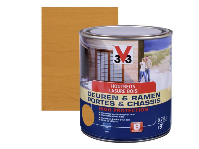 V33 High Protection houtbeits ramen & deuren zijdeglans 0,75l teak