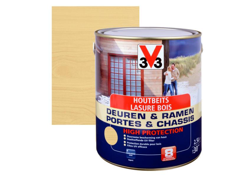 V33 High Protection houtbeits ramen & deuren zijdeglans 2,5l kleurloos