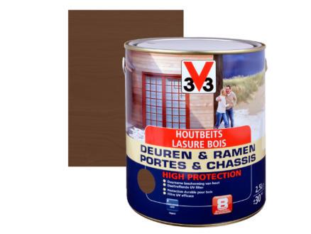 V33 High Protection houtbeits ramen & deuren zijdeglans 2,5l notelaar