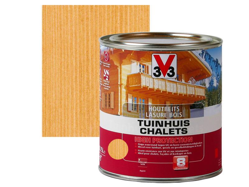 V33 High Protection houtbeits tuinhuis zijdeglans 0,75l midden eik