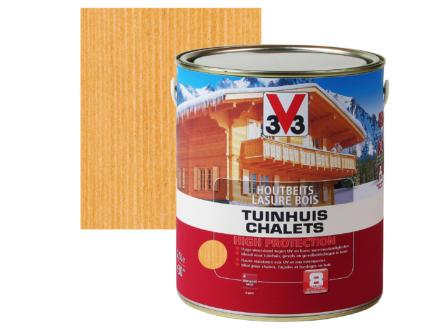 V33 High Protection houtbeits tuinhuis zijdeglans 2,5l midden eik