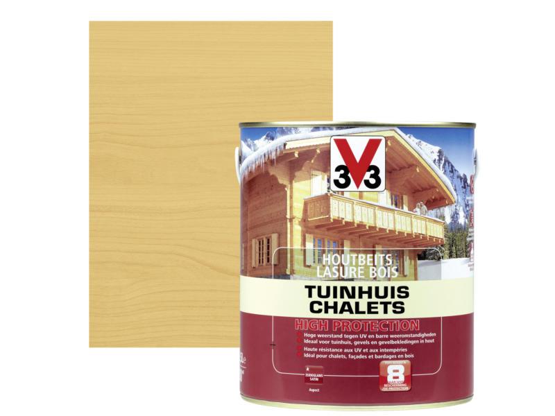 V33 High Protection houtbeits tuinhuis zijdeglans 2,5l noorse den