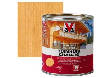 V33 High Protection lasure bois chalet satin 0,75l chêne moyen