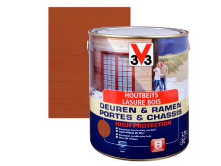 V33 High Protection lasure portes & châssis satin 2,5l acajou