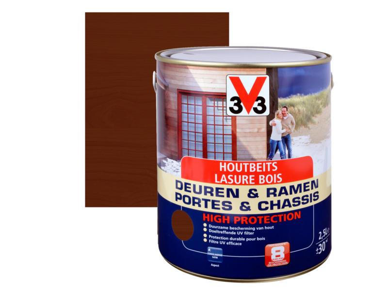 V33 High Protection lasure portes & châssis satin 2,5l chêne foncé