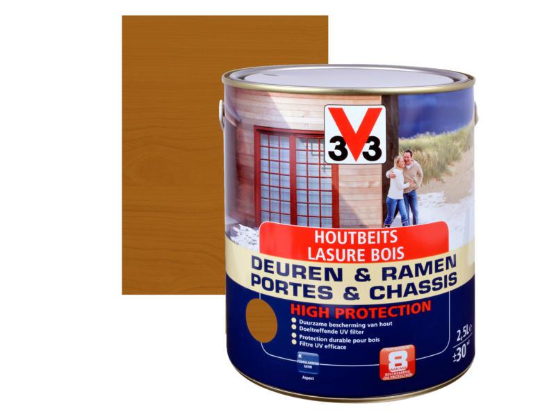 V33 High Protection lasure portes & châssis satin 2,5l chêne moyen