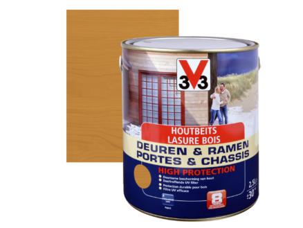 V33 High Protection lasure portes & châssis satin 2,5l teck